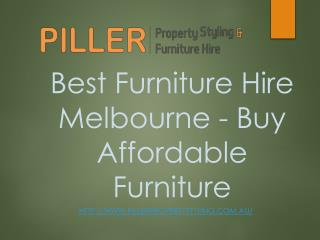 Best Furniture Hire Melbourne - Buy Affordable Furniture