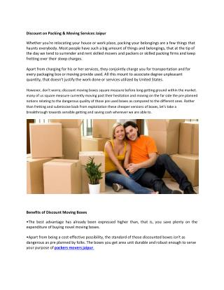 Packers and Movers in Jaipur | Movers and Packers Services in Jaipur