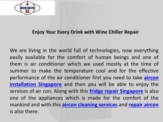 Take benefits from Fridge Repair Singapore - Airwin Aircon