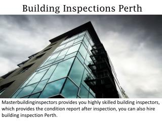 Building Inspections Perth - masterbuildinginspectors.com.au