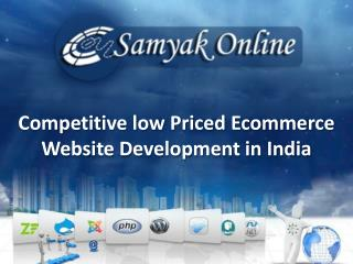 Competitive low Priced Ecommerce Website Development in India