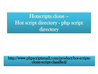 Hotscripts clone - Hot script directory - php script directory