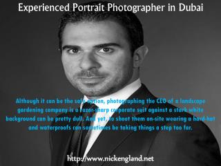 Experienced Portrait Photographer in Dubai - Nick England