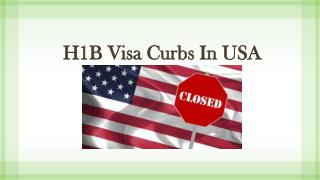 H1B visa curbs in USA