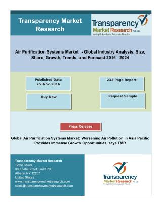 Air Purification Systems Market- Global Industry Analysis and Forecast :2023