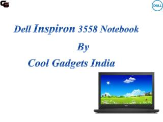 Dell Inspiron 3558 Notebook delivers an outstanding multimedia experience