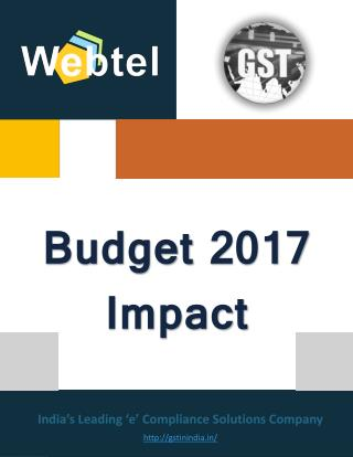 Union Budget 2017 Impact