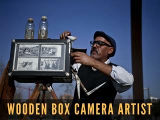 Wooden box camera artist