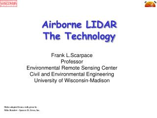 Airborne LIDAR The Technology