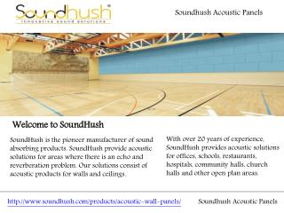 Soundhush Acoustic Panels