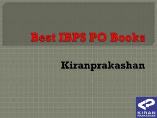 Buy Best IBPS PO Books at Kiranprakashan
