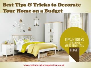 Best Tips & Tricks to Decorate Your Home on a Budget