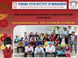 VJIM, HYDERABAD'S STUDENTS ARE RECRUITERS' FAVOURITE