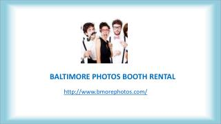 Maryland Photo Booth Rentals