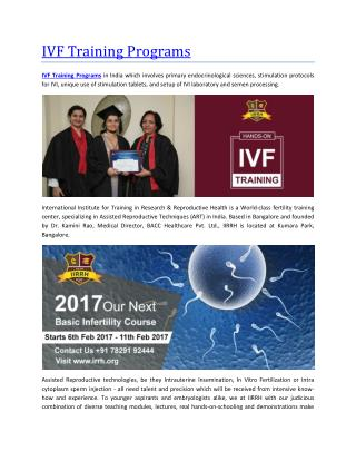 IVF Training Programs