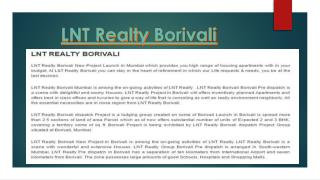 LNT Realty Borivali Budget Price Housing Project