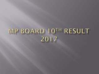 MP Board 10th Result 2017, MPBSE 10th Class Result