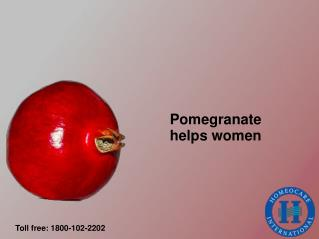 Know pomegranate benefits for women