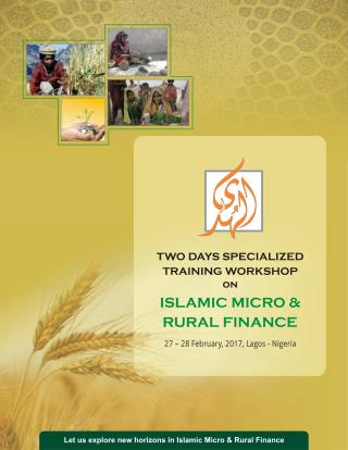 Workshop on Islamic Micro & Rural Finance at Nigeria
