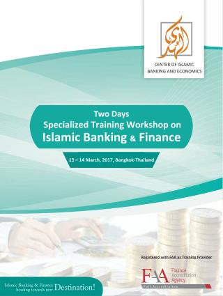 Islamic Banking & Finance Workshop at Thailand.