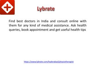 Best Physiotherapist in Hyderabad - Lybrate