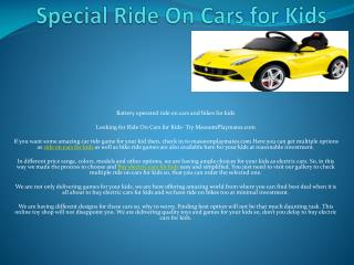 Ride On Carsfor Kids