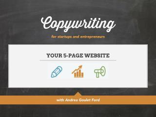 Copywriting for Startups and Entrepreneurs