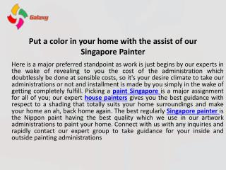 Advantages of using Home Painting Services Singapore