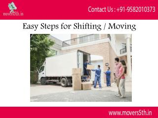Movers5th Easy Steps for Shifting / Moving Relocation Services