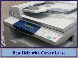 Best Help with Copier Lease