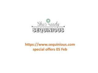 www.sequinious.com special offers 05 Feb