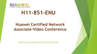 ExamGood Huawei HCNA-VC H11-851-ENU Exam Dumps Questions