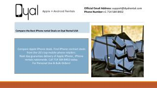 Compare the Best iPhone 5 rental Deals on Dyal Rental USA