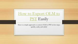 Export Outlook Mac to PST Format