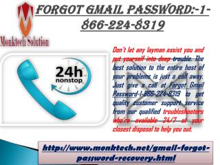 Avail Easy Forgot Gmail Password:-1-866-224-8319 with Us