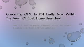 Converting olm emails to pst format