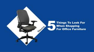 5 Factors To Consider When Buying Office Furniture