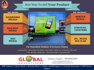 Outdoor Promotion For Global Advertisers Accepts Plastic Money