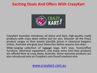 Exciting Deals and Offers With CrazyKart