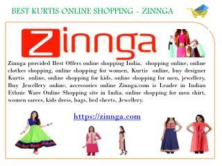 Kurtas Online | Buy Kurtas Online | Buy Kurtis Online | Kurtas For Women | Zinnga