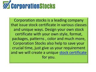 Best Template Sample for Stock Certificate | Corporation Stocks