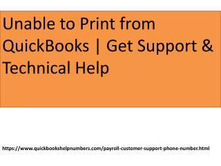 unable to print quickbooks