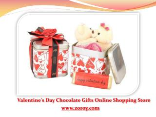 Buy Customized Valentine's Day Chocolate Gift for Girlfriend @ Zoroy