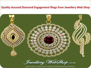 Quality Assured Diamond Engagement Rings from Jewellery Web Shop