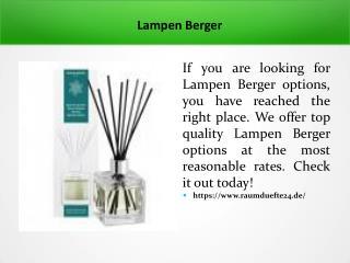 Lampen Berger