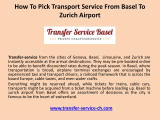 How to pick transport service from basel to zurich airport