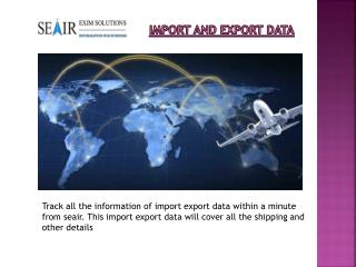 Grow Your Business With Import Export Data from Seair