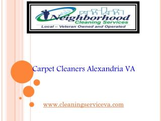 Carpet Cleaners Alexandria VA - cleaningserviceva.com
