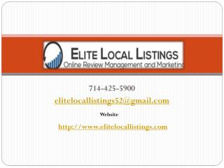 Internet Marketing Websites USA - Elitelocallistings.com