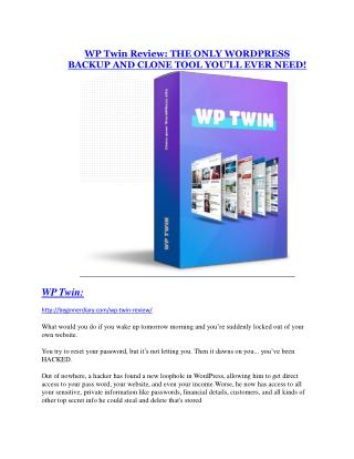 WP Twin Review-$32,400 bonus & discount